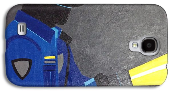 Police Art Paintings Galaxy S4 Cases - The Police Officer Galaxy S4 Case by Sarah Jane Thompson