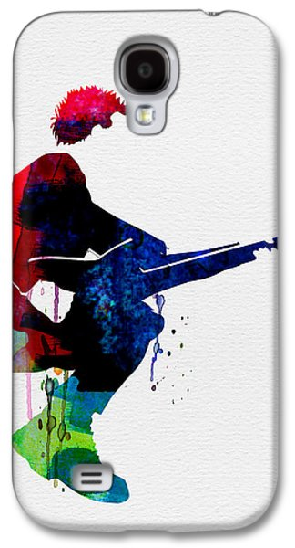 Police Galaxy S4 Cases - The Police Watercolor Galaxy S4 Case by Naxart Studio