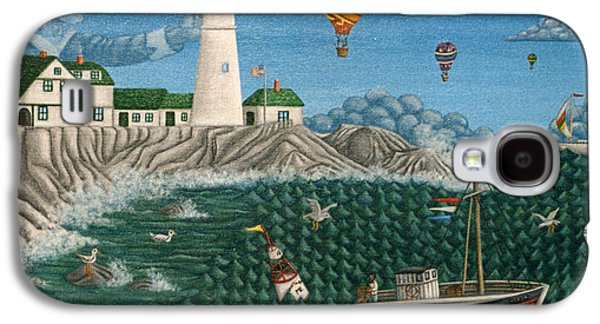 Captains Quarters Galaxy S4 Cases - The Portland Lighthouse Off the coast of Maine  Galaxy S4 Case by Joshua Mac Allistar