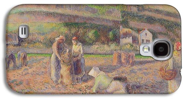The Potato Harvest Galaxy S4 Case by Camille Pissarro