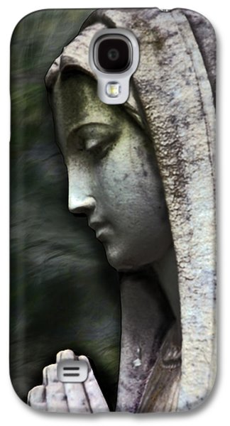 Mother Mary Digital Art Galaxy S4 Cases - The Prayer Galaxy S4 Case by Kelly Rader
