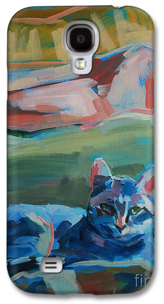 Gray Tabby Galaxy S4 Cases - The Princess and the Pea - Sketch Galaxy S4 Case by Kimberly Santini