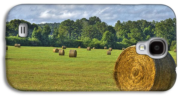Pastureland Galaxy S4 Cases - The Productive Southern Hay Field Galaxy S4 Case by Reid Callaway