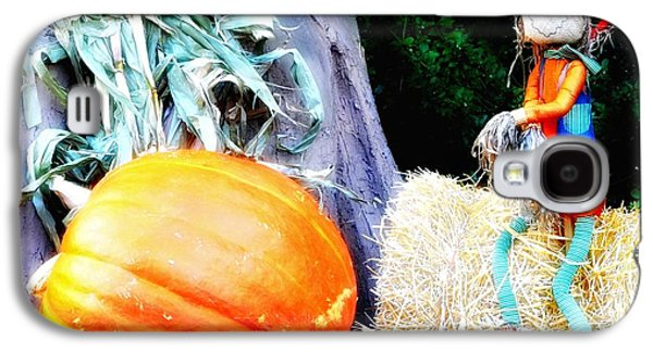 Harvest Time Galaxy S4 Cases - the Pumpkin and the Scarecrow Galaxy S4 Case by Bill Cannon