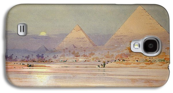 The Pyramids At Dusk Galaxy S4 Case by Augustus Osborne Lamplough