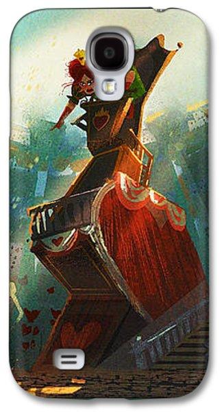 Alice In Wonderland Galaxy S4 Cases - The Queen of Hearts Galaxy S4 Case by Kristina Vardazaryan