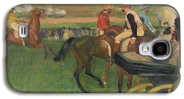 The Race Course Galaxy S4 Case by Edgar Degas