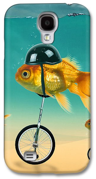 Shark Digital Galaxy S4 Cases - The Race  Galaxy S4 Case by Mark Ashkenazi