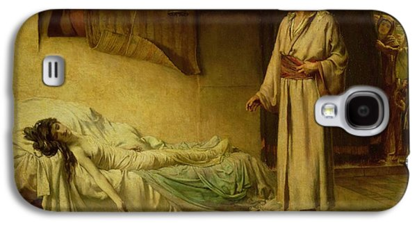 The Raising Of Jairus's Daughter Galaxy S4 Case by George Percy Jacomb-Hood