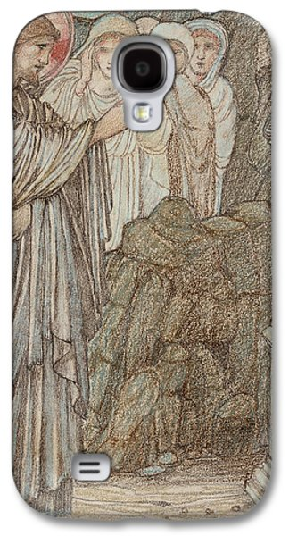 Religious Pastels Galaxy S4 Cases - The Raising of Lazarus Galaxy S4 Case by Edward Burne-Jones
