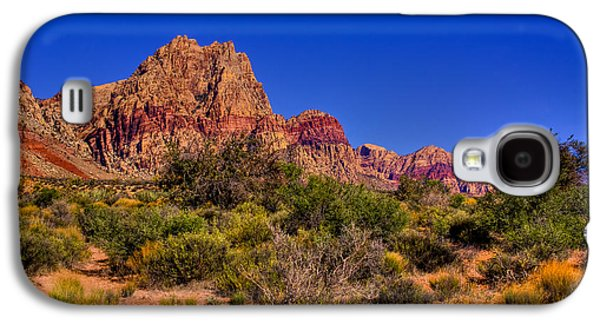 Fault Galaxy S4 Cases - The Red Rock Canyon at Bonnie Springs Ranch Galaxy S4 Case by David Patterson