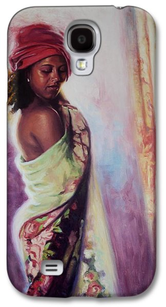 Alluring Paintings Galaxy S4 Cases - The Red Turban Galaxy S4 Case by Colin Bootman