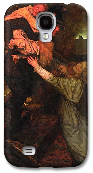 Police Paintings Galaxy S4 Cases - The Rescue Galaxy S4 Case by John Everett Millais