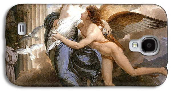 Goddess Mythology Paintings Galaxy S4 Cases - The Reunion of Cupid and Psyche Galaxy S4 Case by Jean Pierre Saint-Ours