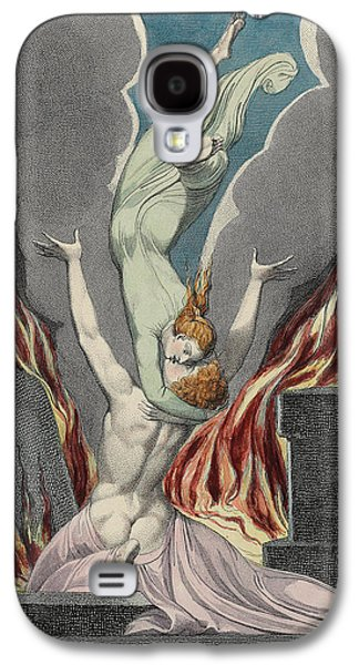 Angels Drawings Galaxy S4 Cases - The Reunion of the Soul and the Body Galaxy S4 Case by Sir William Blake