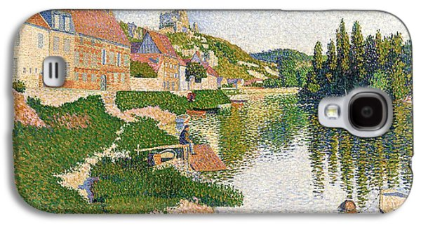 The River Bank Galaxy S4 Case by Paul Signac