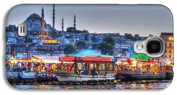 Istanbul Galaxy S4 Cases - The Riverboats of Istanbul Galaxy S4 Case by Michael Garyet