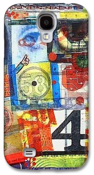 Graph Mixed Media Galaxy S4 Cases - The Road Less Traveled Galaxy S4 Case by Liz  London