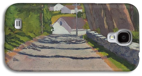 Maine Roads Paintings Galaxy S4 Cases - The Road to Mackerel Cove Galaxy S4 Case by Bill Tomsa