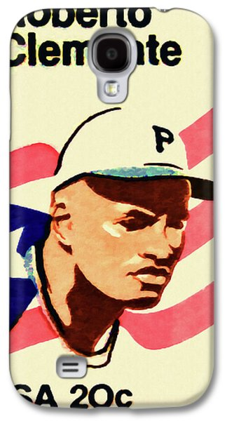 Roberto Clemente Paintings Galaxy S4 Cases - The Roberto Clemente  Galaxy S4 Case by Lanjee Chee