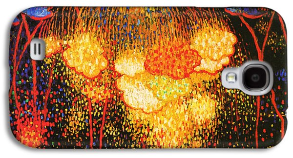 Fireworks Paintings Galaxy S4 Cases - The Rocket Galaxy S4 Case by Edward Middleton Manigault