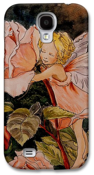 The Rose Fairy After Cicely Mary Barker Galaxy S4 Case by Betty-Anne McDonald