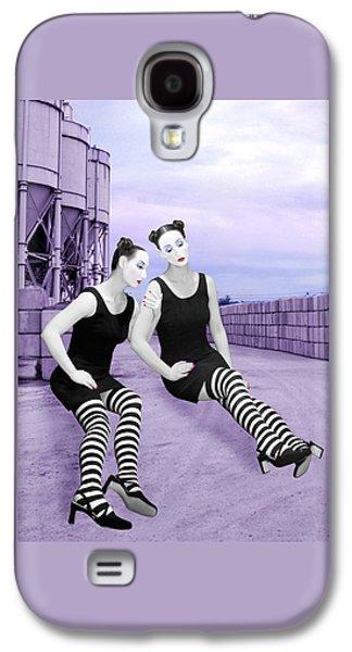 Survivor Art Galaxy S4 Cases - The Sadness - Self Portrait Galaxy S4 Case by Jaeda DeWalt