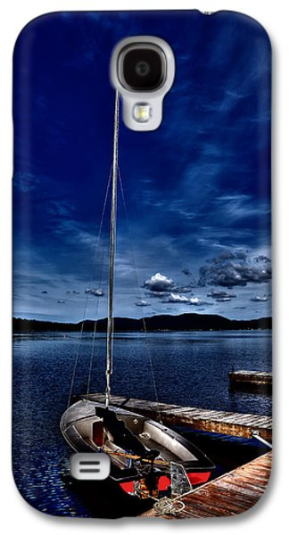 Docked Sailboat Galaxy S4 Cases - The Sailboat Galaxy S4 Case by David Patterson