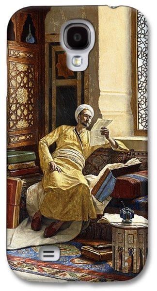 Persian Carpet Galaxy S4 Cases - The Scholar Galaxy S4 Case by Ludwig Deutsch