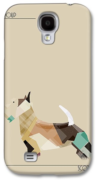 Scottish Dog Galaxy S4 Cases - The Scottish Terrier Galaxy S4 Case by Bri Buckley