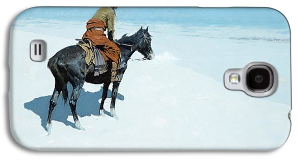 Snow-covered Landscape Galaxy S4 Cases - The Scout Friends or Foes Galaxy S4 Case by Frederic Remington