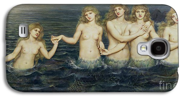 Sisters Galaxy S4 Cases - The Sea Maidens Galaxy S4 Case by Evelyn De Morgan