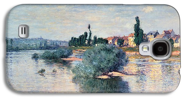 River Paintings Galaxy S4 Cases - The Seine at Lavacourt Galaxy S4 Case by Claude Monet