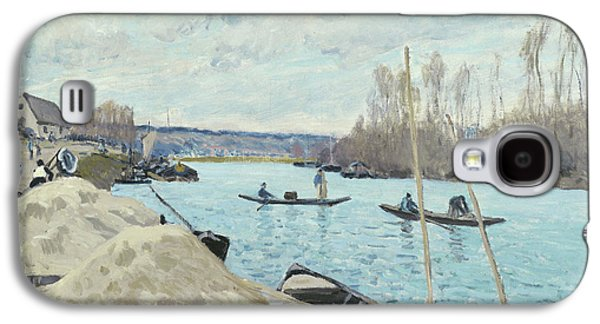 The Seine At Port Marly, Piles Of Sand Galaxy S4 Case by Alfred Sisley