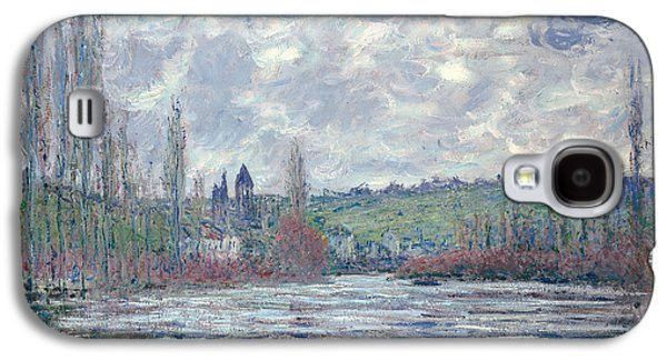 Flooding Galaxy S4 Cases - The Seine in Flood at Vetheuil Galaxy S4 Case by Claude Monet