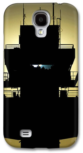 Traffic Control Galaxy S4 Cases - The Setting Sun Silhouettes An Air Galaxy S4 Case by Stocktrek Images