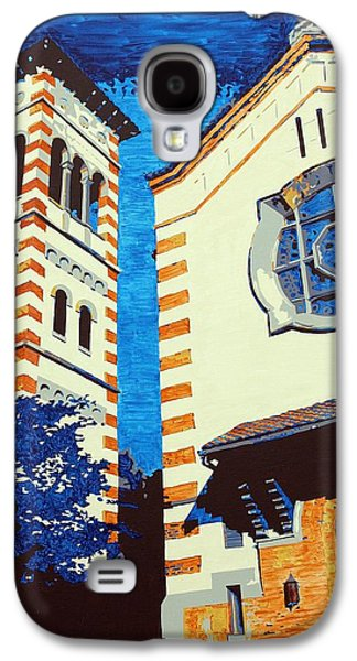 Church Pillars Paintings Galaxy S4 Cases - The Shrine Of the Miraculous Medal Galaxy S4 Case by Sheri Parris