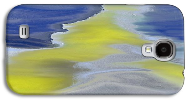 Abstract Digital Paintings Galaxy S4 Cases - The Silver Road Galaxy S4 Case by Lenore Senior