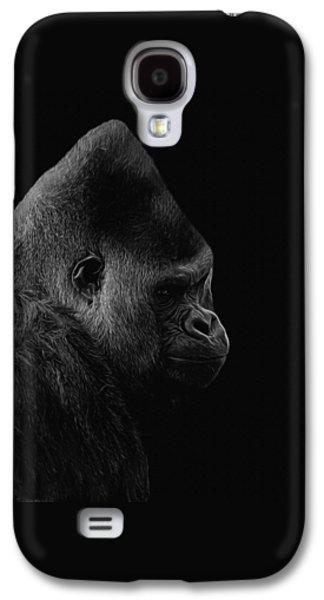 Gorilla Digital Galaxy S4 Cases - The Silverback Gorilla BW Galaxy S4 Case by Ernie Echols