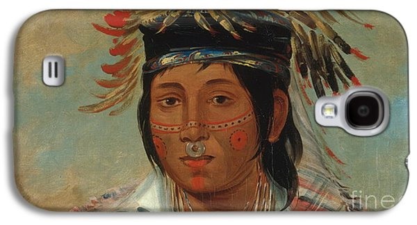 The Six Chief Of The Plains Ojibwa George Galaxy S4 Case by Catlin