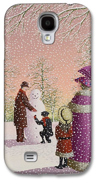 Christmas Cards - Galaxy S4 Cases - The Snowman Galaxy S4 Case by Peter Szumowski