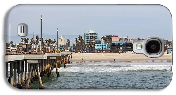 The South View Venice Beach Pier Galaxy S4 Case by Ana V Ramirez