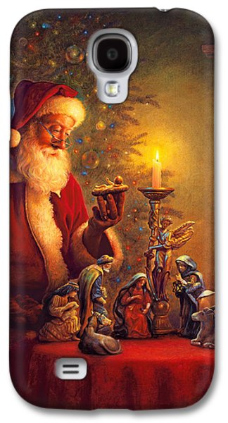 Saint Joseph Galaxy S4 Cases - The Spirit of Christmas Galaxy S4 Case by Greg Olsen