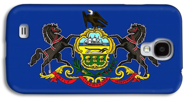 Quaker Paintings Galaxy S4 Cases - The State Flag of Pennsylvania Galaxy S4 Case by Floyd Snyder
