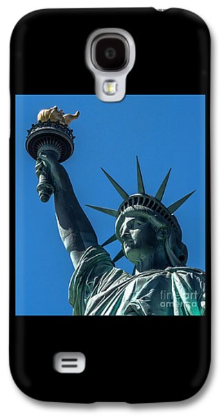 American Independance Photographs Galaxy S4 Cases - The Statue of Liberty Galaxy S4 Case by James Aiken