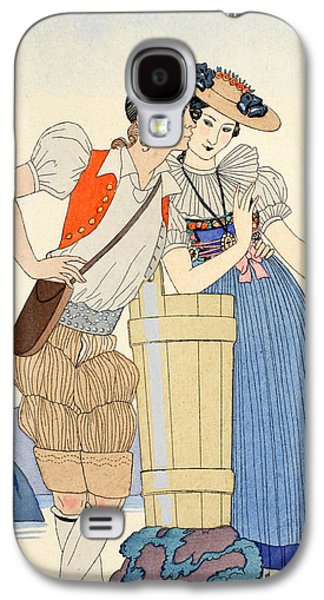 The Stolen Kiss Galaxy S4 Case by Georges Barbier