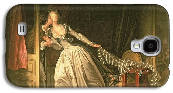 Chair Galaxy S4 Cases - The Stolen Kiss Galaxy S4 Case by Jean-Honore Fragonard