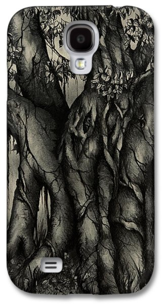Dreamscape Drawings Galaxy S4 Cases - The Strangler Galaxy S4 Case by Rachel Christine Nowicki