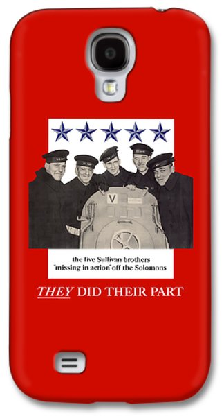 Sullivan Galaxy S4 Cases - The Sullivan Brothers Galaxy S4 Case by War Is Hell Store