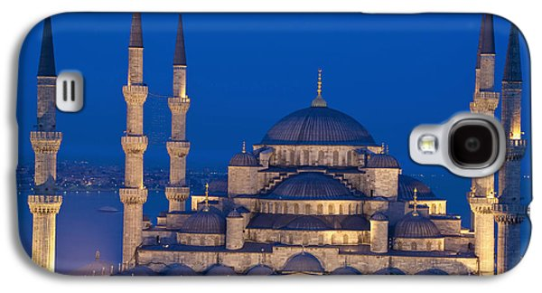 Colour Image Photographs Galaxy S4 Cases - The Sultanahmet Or Blue Mosque At Dusk Galaxy S4 Case by Axiom Photographic